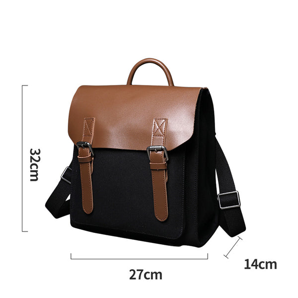 Designer Womens Small Rucksack Leather Backpack Bag Purse Canvas Backpacks for Women Details