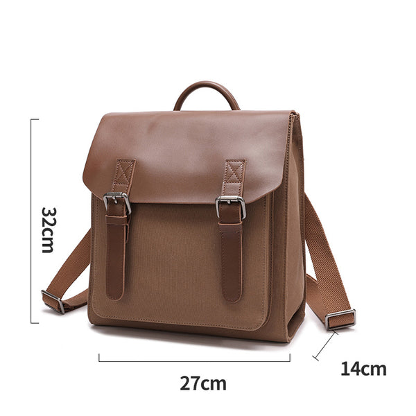 Designer Womens Small Rucksack Leather Backpack Bag Purse Canvas Backpacks for Women Minimalist