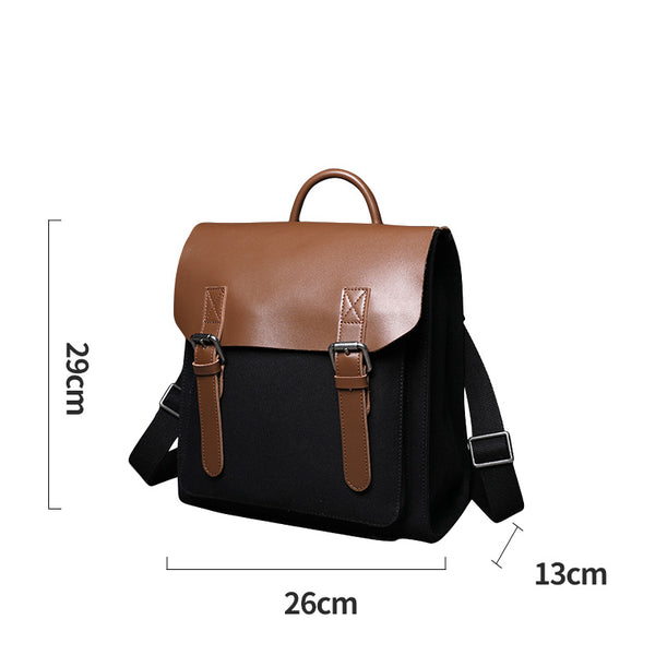 Designer Womens Small Rucksack Leather Backpack Bag Purse Canvas Backpacks for Women funky