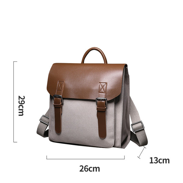 Designer Womens Small Rucksack Leather Backpack Bag Purse Canvas Backpacks for Women Handmade