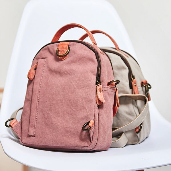 Designer Womens Mini Rucksack Leather Backpack Bag Purse Canvas Backpacks for Women trendy