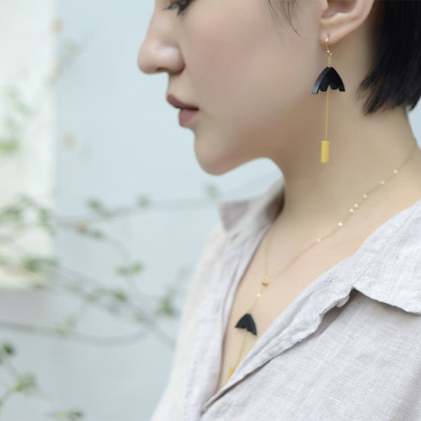 Designer Wood Dangle Earrings Gold Jewelry Accessories Women gift