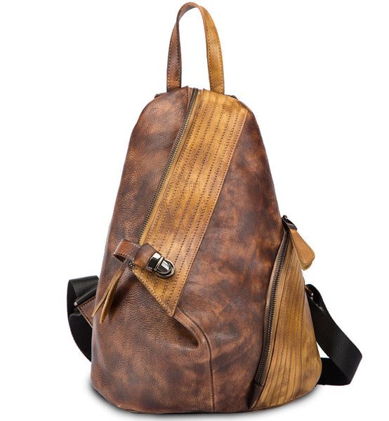 Dyed Leather Womens Backpack Purse Designer Backpacks for Women cowhide