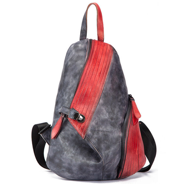 Dyed Leather Womens Backpack Purse Designer Backpacks for Women beautiful