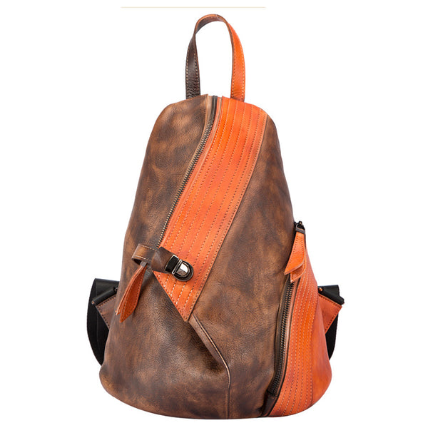 Dyed Leather Womens Backpack Purse Designer Backpacks for Women Accessories