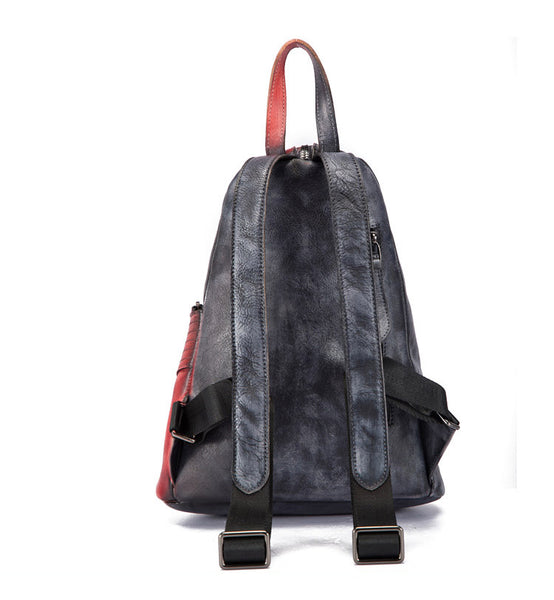 Dyed Leather Womens Backpack Purse Designer Backpacks for Women Boutique