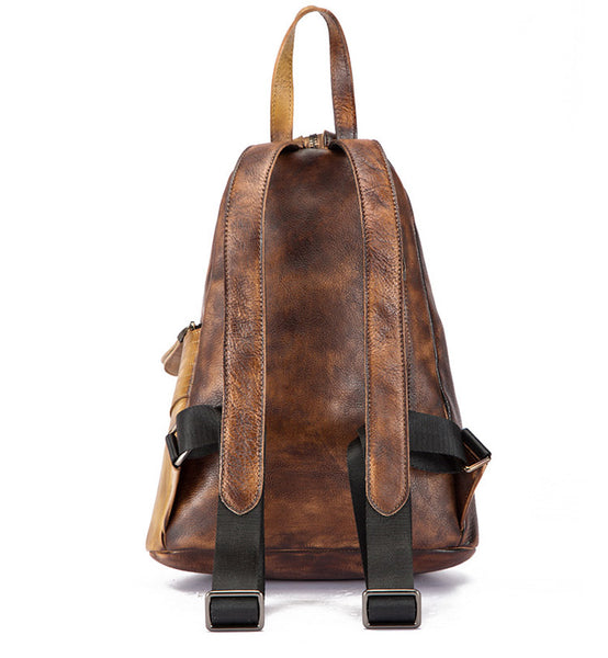 Dyed Leather Womens Backpack Purse Designer Backpacks for Women Designer