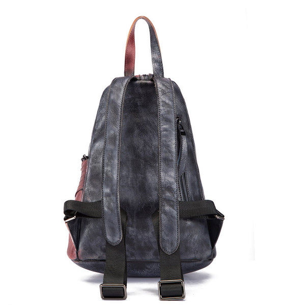 Dyed Leather Womens Backpack Purse Designer Backpacks for Women fashion