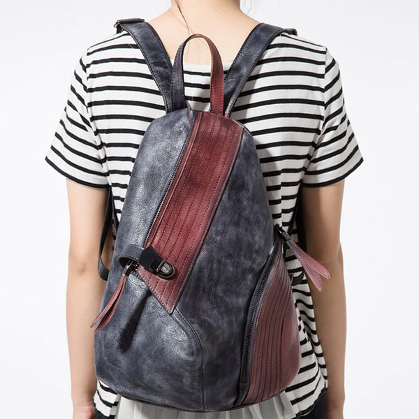 Dyed Leather Womens Backpack Purse Designer Backpacks for Women work bag