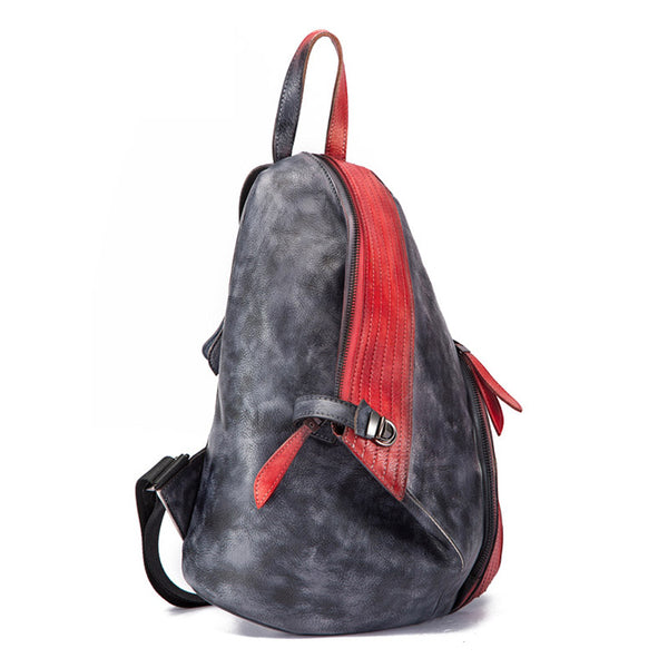 Dyed Leather Womens Backpack Purse Designer Backpacks for Women