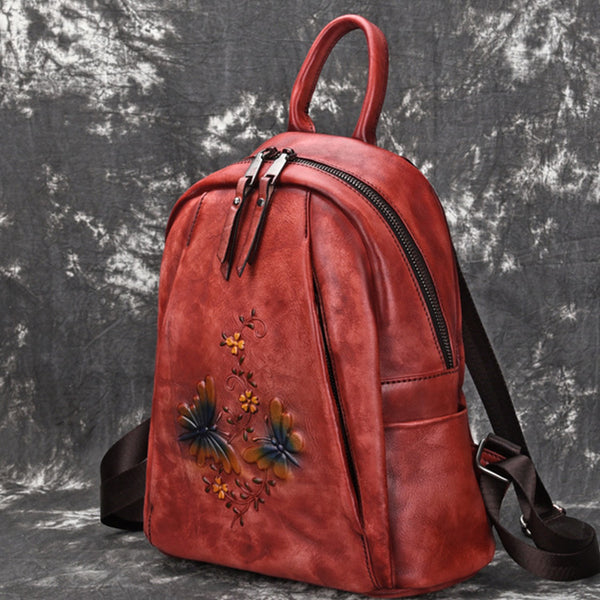 Elegant Womens Vintage Leather Backpack Bags Bookbag Purse for Women Affordable