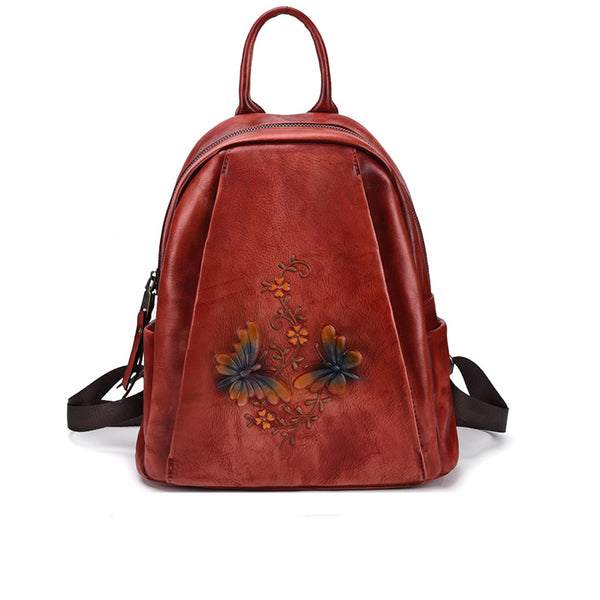 Elegant Womens Vintage Leather Backpack Bags