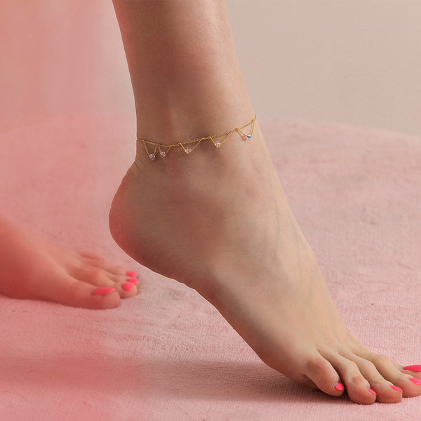 Fashion Anklet Unique Gold Titanium Steel Jewelry Accessories Gift Women adorable