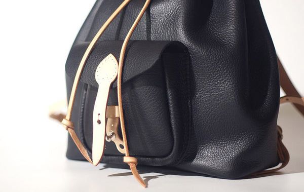 Fashion Womens Black Leather Backpack Bag Purse School Backpacks for Women cowhide