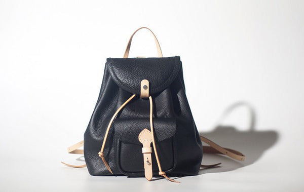 Fashion Womens Black Leather Backpack Bag Purse School Backpacks for Women cute