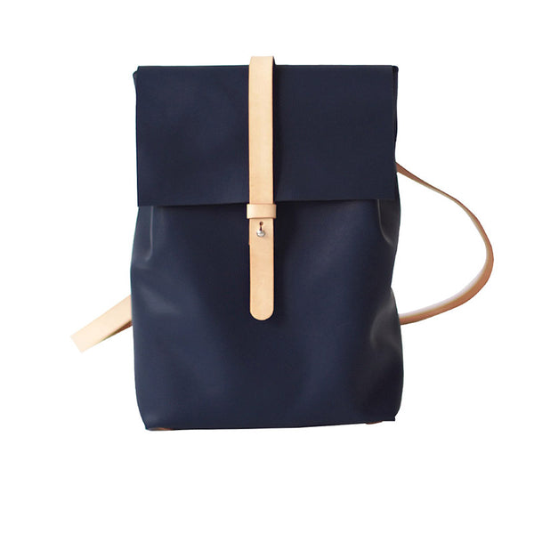 Fashion Womens Blue Leather Backpack Purse