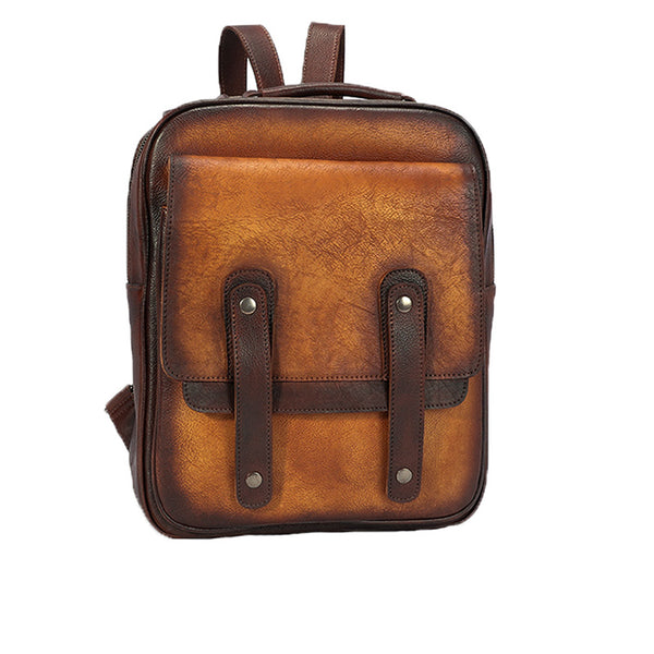 Funky Brown Leather Womens Backpack Bag