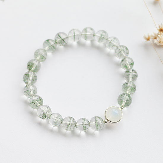 Garden Crystal Moonstone Beaded Bracelet Handmade Jewelry Accessories Women charming
