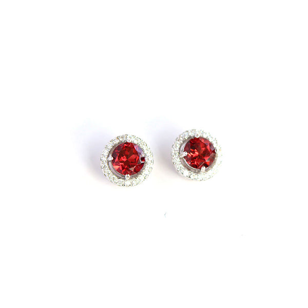 Garnet-Zircon-Stud-Earrings-Gold-Silver-Handmade-Jewelry-Women