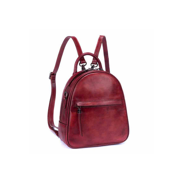 Genuine Leather Backpacks Handmade Vintage Backpack Bags handbag School bags Women