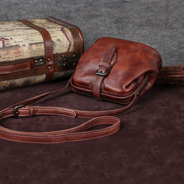 Genuine Leather Handmade Vintage Crossbody Shoulder Bags Purses Accessories Gift Women good bag