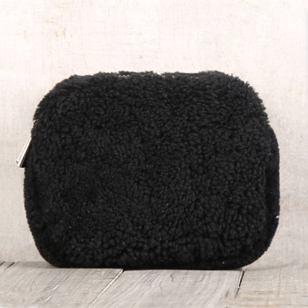 Genuine Leather One Fur Short Zip Wallets Clutches Coin Card Wallet Purse Women Men gift
