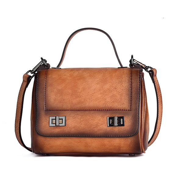 Genuine Leather Satchel Bag Crossbody Bags Shoulder Bag Purses for Women cowhide