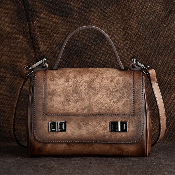 Genuine Leather Satchel Bag Crossbody Bags Shoulder Bag Purses for Women