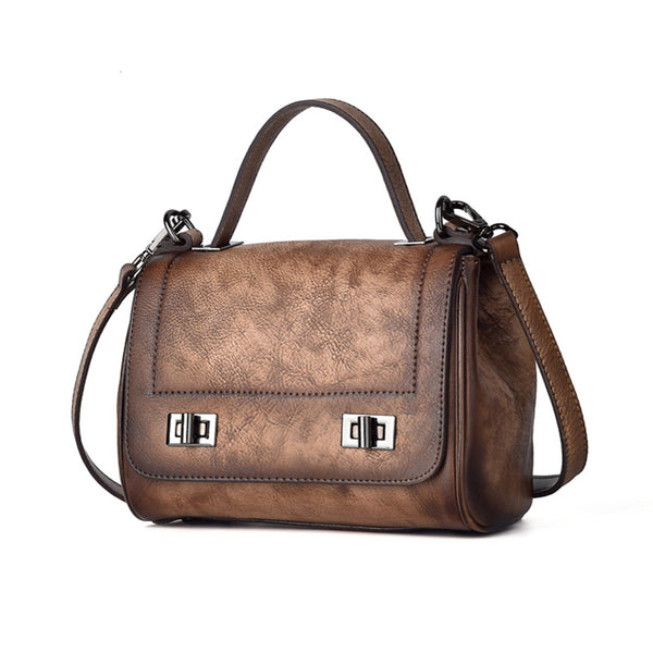 Genuine Leather Satchel Bag