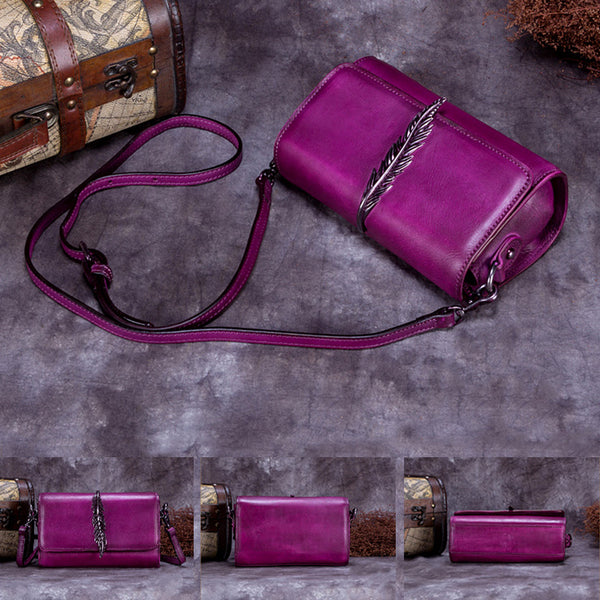 Genuine Leather Vintage Crossbody Shoulder Bags Purses Women beautiful