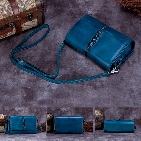Genuine Leather Vintage Crossbody Shoulder Bags Purses Women cool