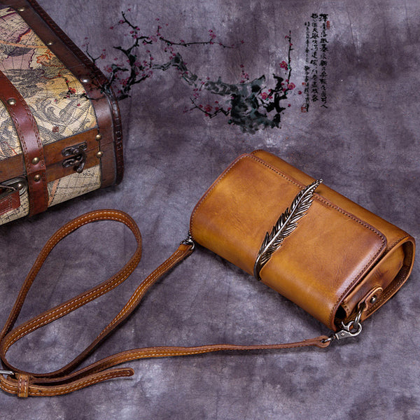 Genuine Leather Vintage Crossbody Shoulder Bags Purses Women gift