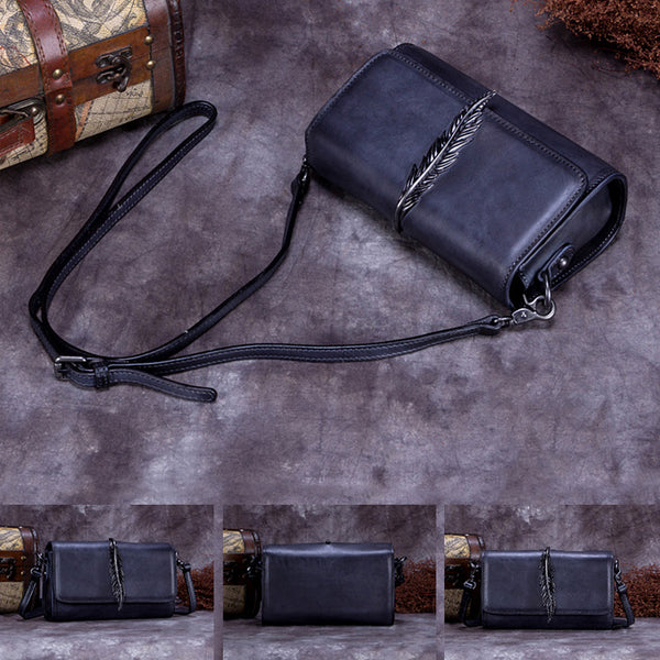 Genuine Leather Vintage Crossbody Shoulder Bags Purses Women nice