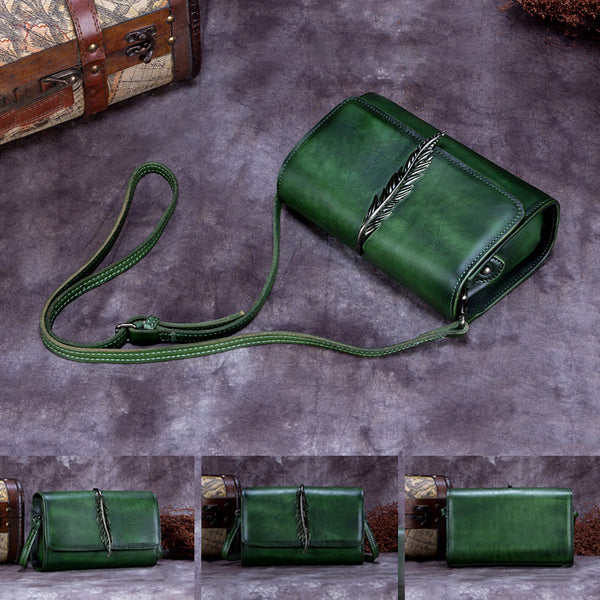 Genuine Leather Vintage Crossbody Shoulder Bags Purses Women