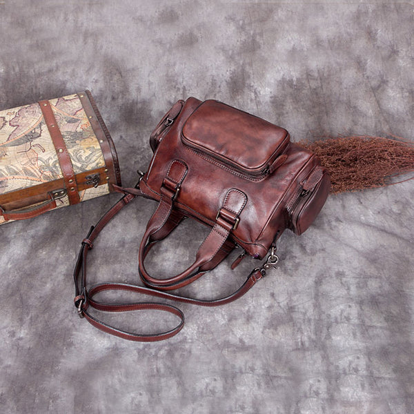 Genuine Leather Vintage Handbag Crossbody Shoulder Bags Purses Accessories Women adorable