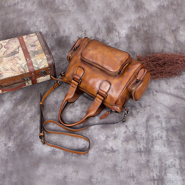Genuine Leather Vintage Handbag Crossbody Shoulder Bags Purses Accessories Women