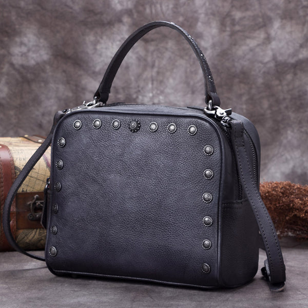 Genuine Leather Vintage Handbag Crossbody Shoulder Bags Purses Women beautiful