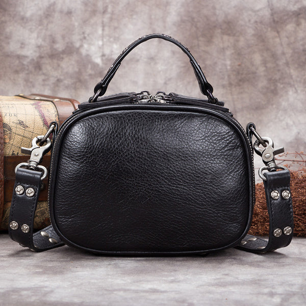 Genuine Leather Vintage Handbag Crossbody Shoulder Bags Purses Women elegant