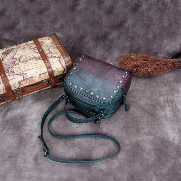 Genuine Leather Vintage Handbag Crossbody Shoulder Bags Purses Women fine