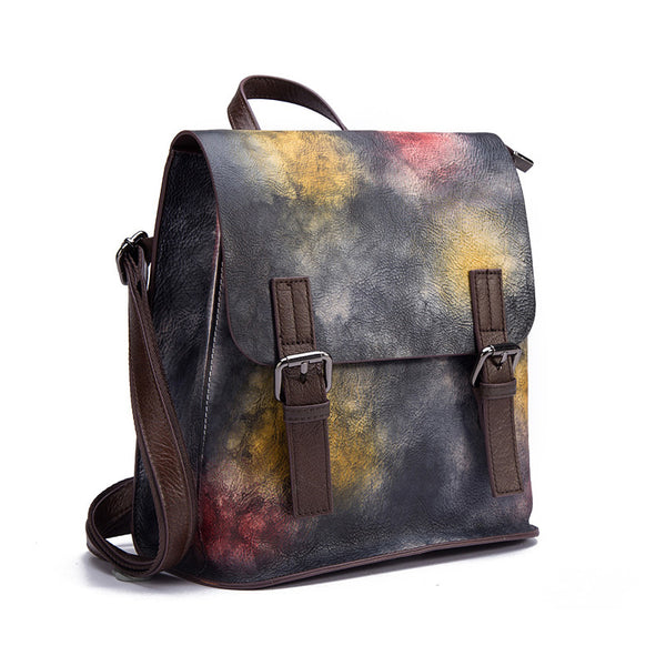 Genuine Leather Women Backpack Purse Cool Backpacks for Women Accessories