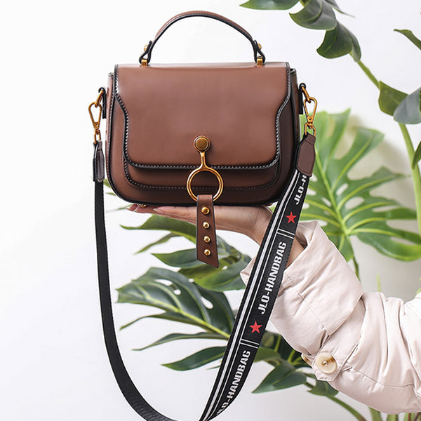 Genuine Leather Womens Crossbody Bags Shoulder Bag Purses for Women Black