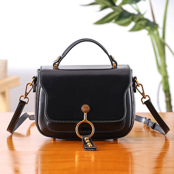 Genuine Leather Womens Crossbody Bags Shoulder Bag Purses for Women Handmade