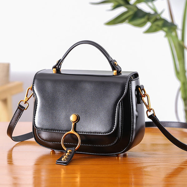 Genuine Leather Womens Crossbody Bags Shoulder Bag Purses for Women Unique