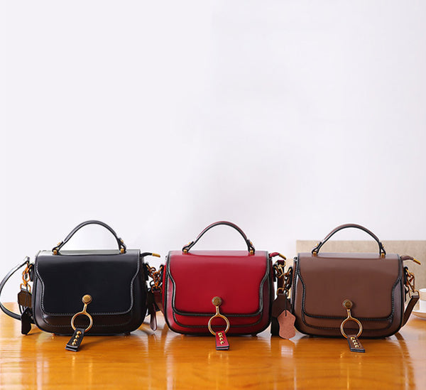 Genuine Leather Womens Crossbody Bags Shoulder Bag Purses for Women cool