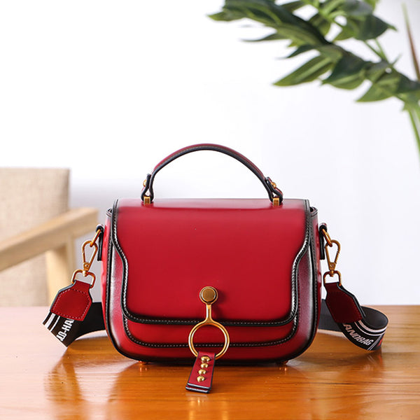 Genuine Leather Womens Crossbody Bags Shoulder Bag Purses for Women cowhide
