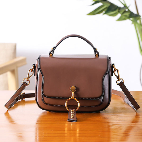 Genuine Leather Womens Crossbody Bags Shoulder Bag Purses for Women cute