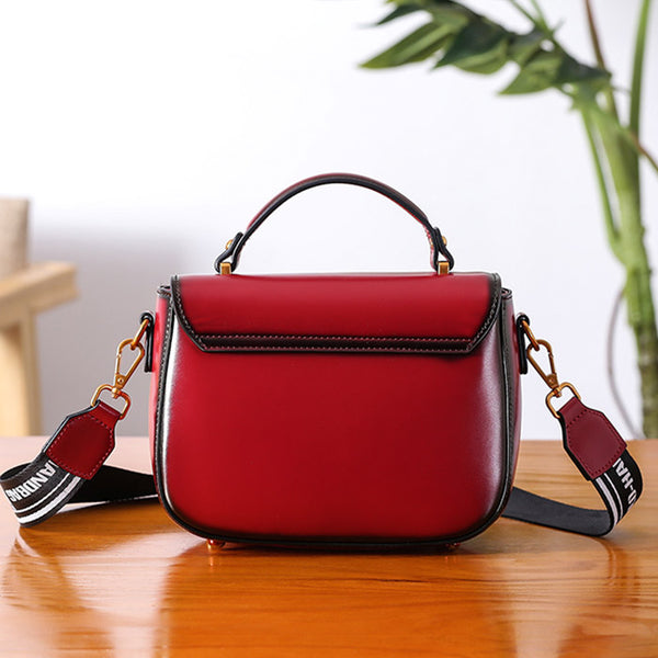 Genuine Leather Womens Crossbody Bags Shoulder Bag Purses for Women small