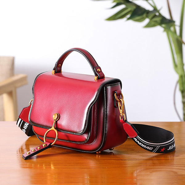Genuine Leather Womens Crossbody Bags Shoulder Bag Purses for Women work bag