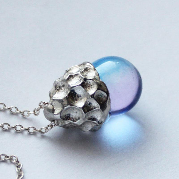 Glaze Crystal Pendant Necklace Sterling Silver Handmade Unique Jewelry Accessories Gift Women adorable