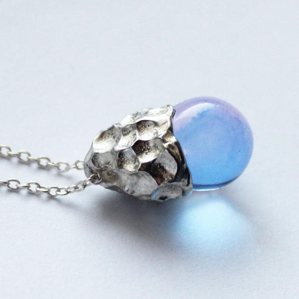 Glaze Crystal Pendant Necklace Sterling Silver Handmade Unique Jewelry Accessories Gift Women beautiful